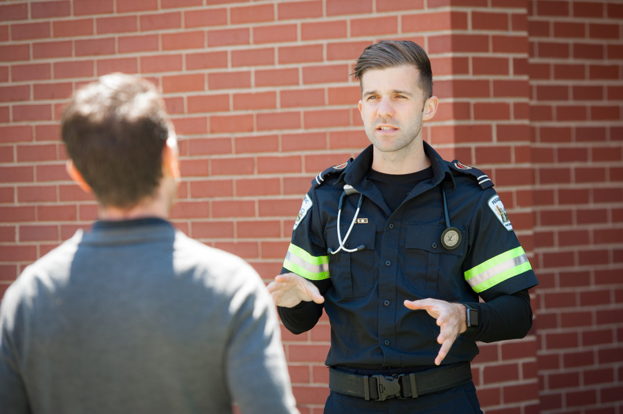 Mike Hannah, one of the first paramedicine graduates at UPEI