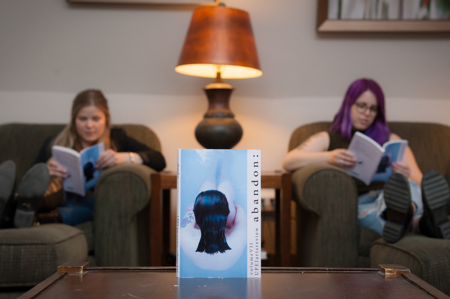 Students read the UPEI Arts Review