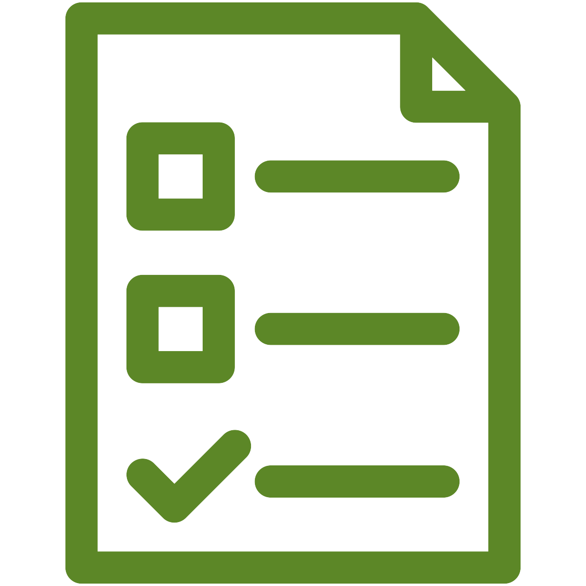 Green checklist icon