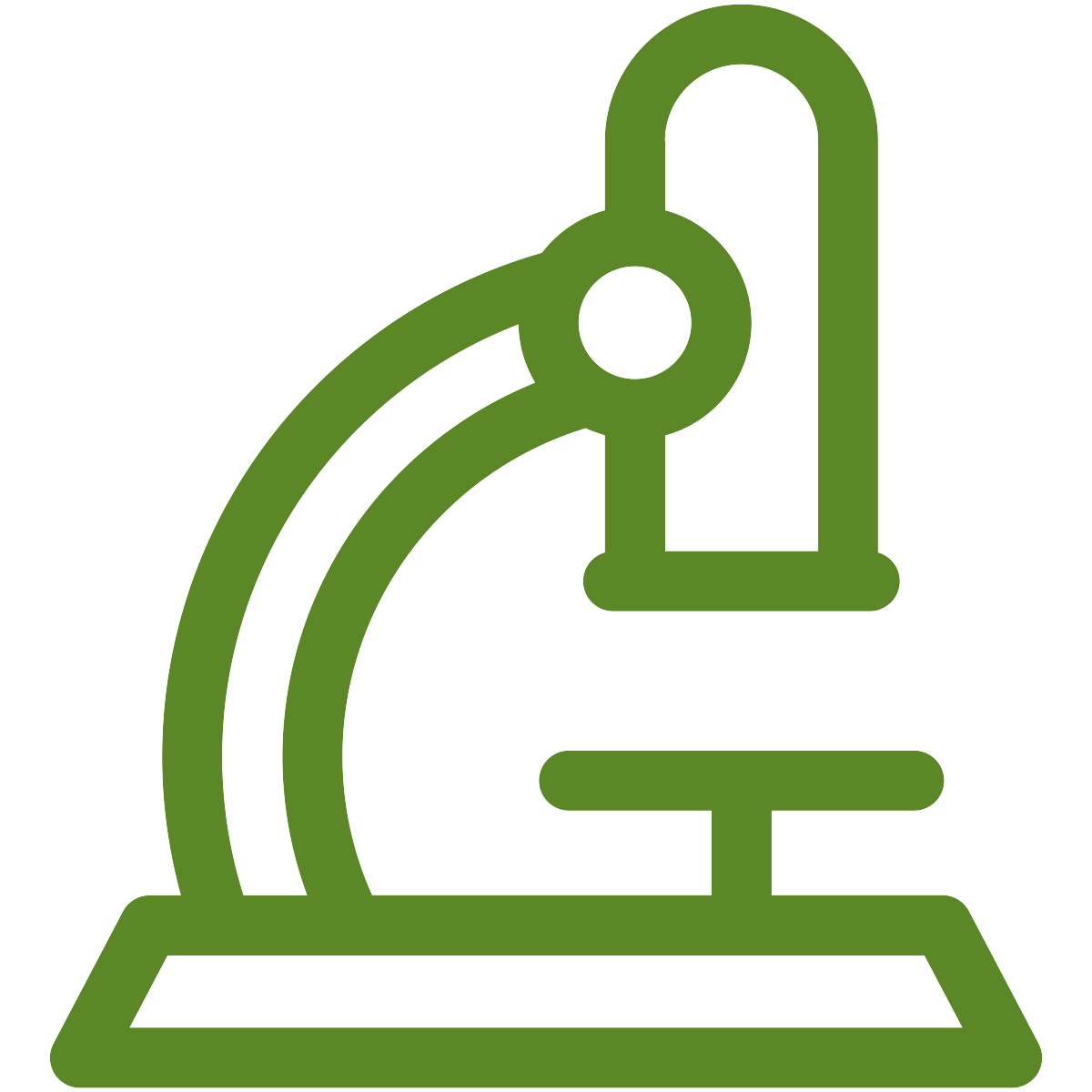 green microscope icon