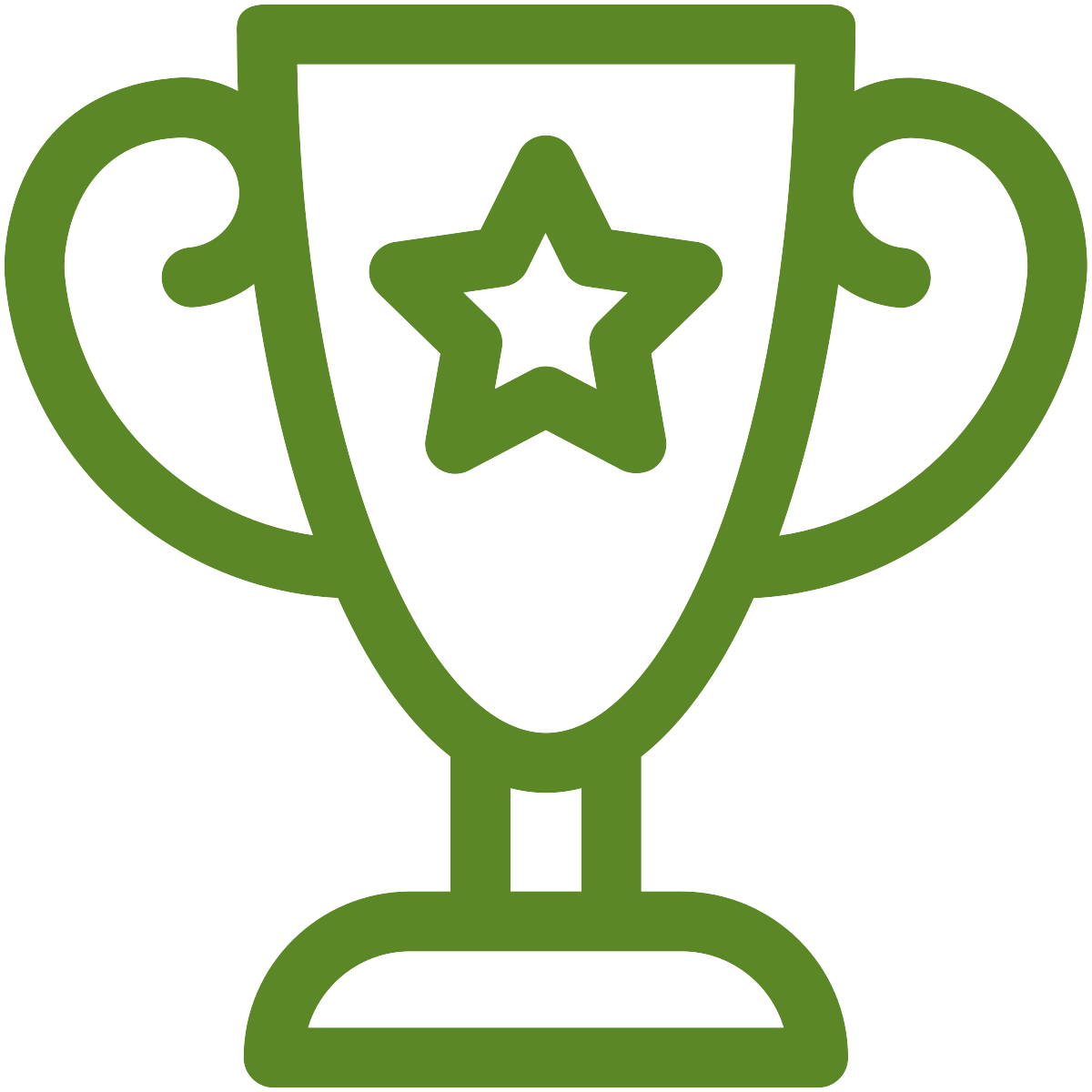 trophy icon in green