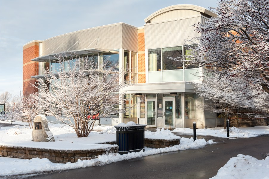photo of student centre in winter