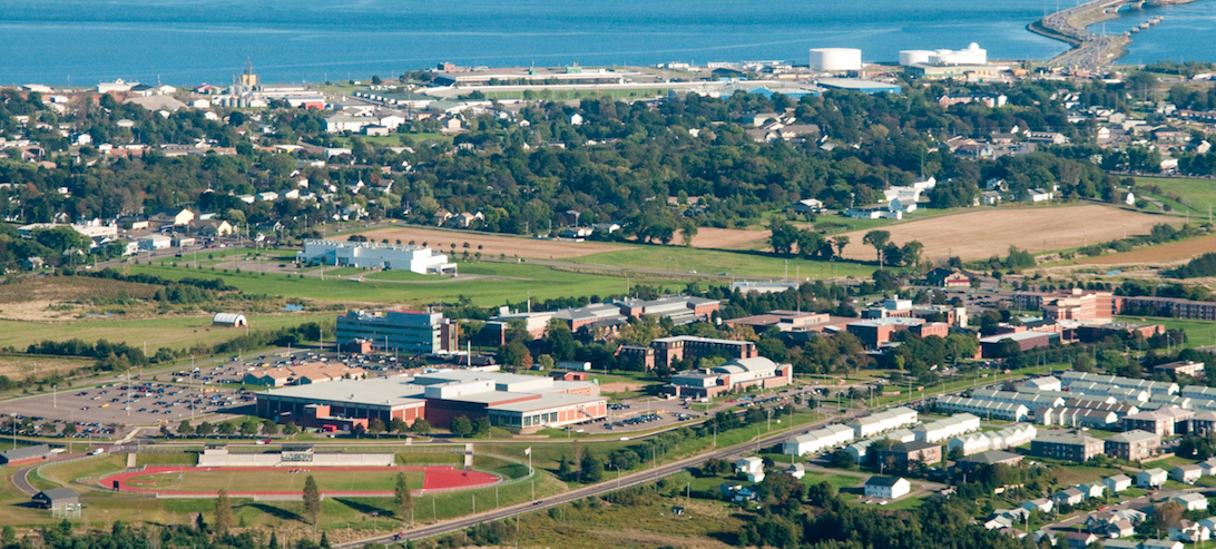 upei campus from the air