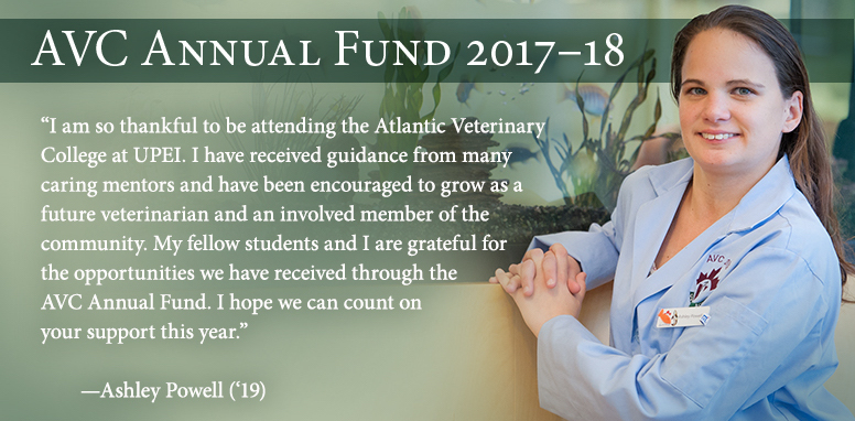 alley powell, veterinary student describes how the AVC annual fund helps her as a student