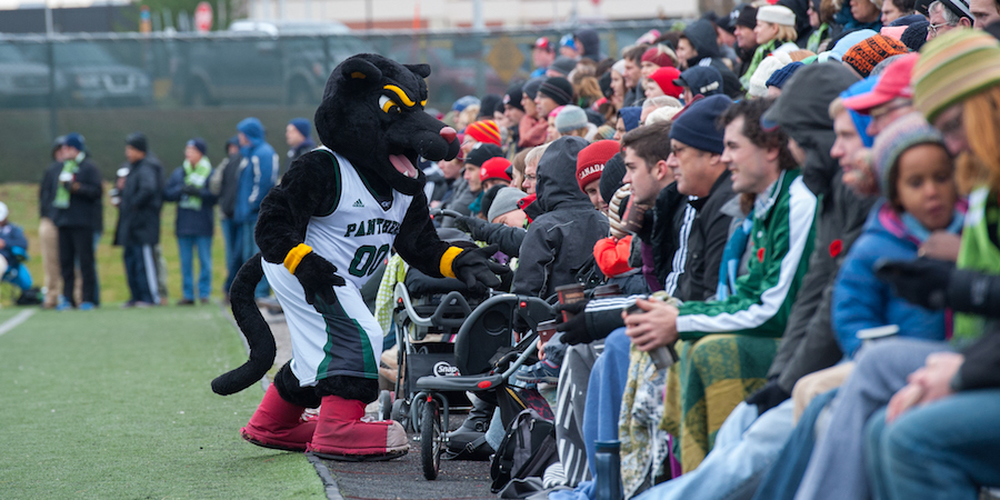 pride the panther at upei soccer game