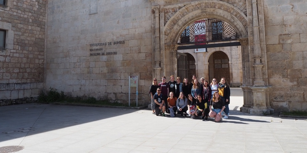 upei students pose at the university of burgos in spain