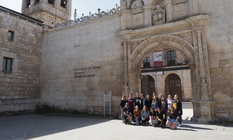 upei students in burgos spain