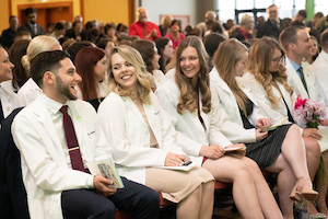 veterinary students at graduation ceremony