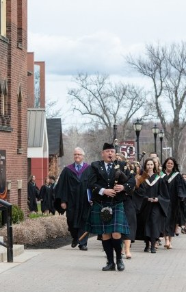 the convocation procession