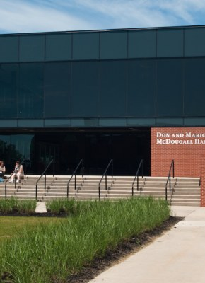 exterior of don and marion mcdougall hall