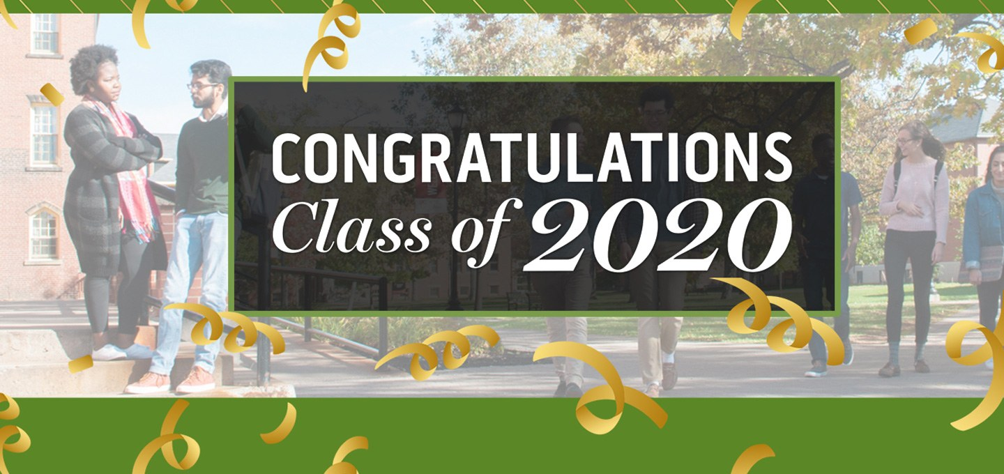 congratulations class of 2020 banner image