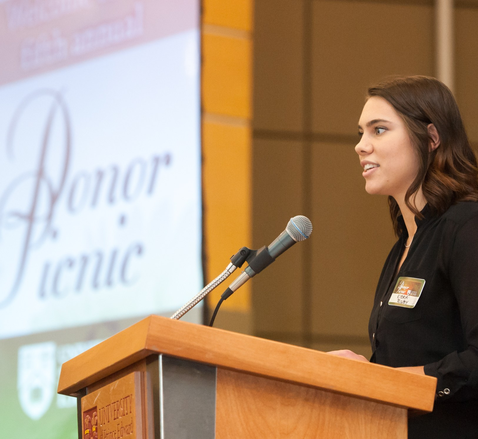 A student speaks about the value of donors
