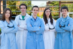 Five student scientists