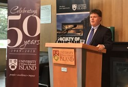 Kevin Ladner speaks at UPEI