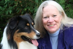 Dr. Karen Overall and her dog Hamilton