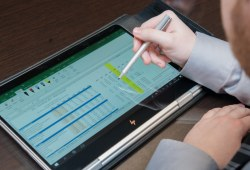 Screen showing data