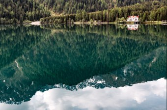 lake in the alps photo by eberhard grossgasteiger