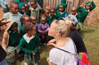 upei students haley mackenzie and julia heckbert in kenya