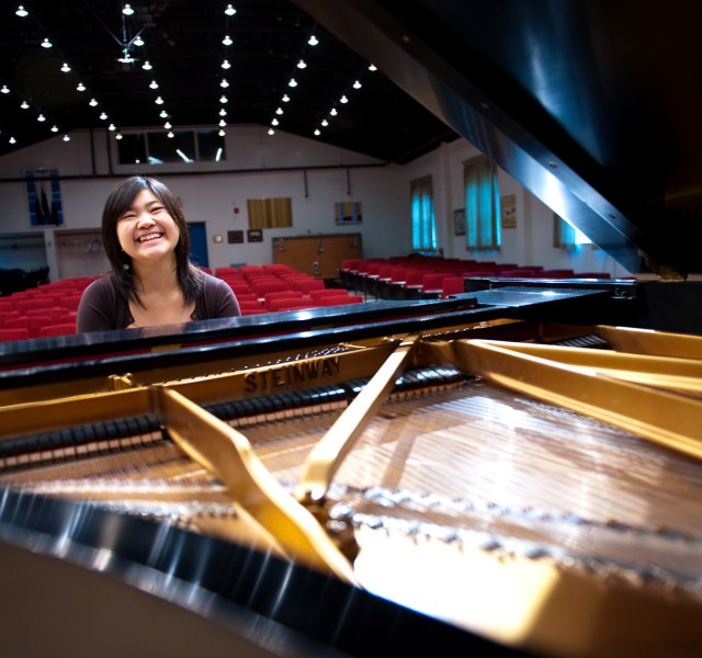 echo lau in the steel recital hall