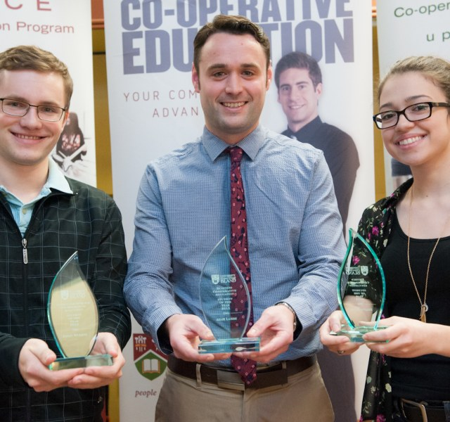 three award-winning co-op students
