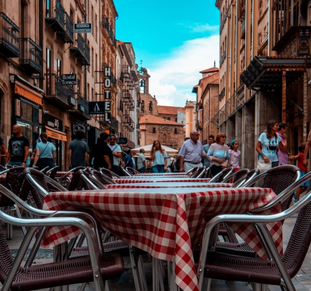 a cafe in Salamanca, Spain