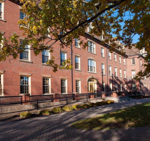 exterior of main building, upei campus
