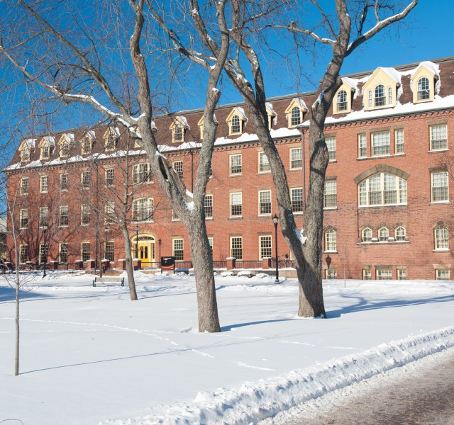 sdu main building in winter